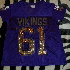 VS PINK Minnesota NFL Vikings Jersey LARGE